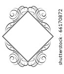 vector calligraphy frame rhomb... | Shutterstock .eps vector #66170872