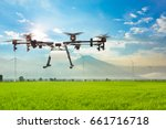 agriculture drone flying on the ... | Shutterstock . vector #661716718