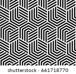abstract geometric pattern with ... | Shutterstock . vector #661718770