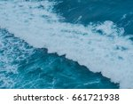 background blue waves of the... | Shutterstock . vector #661721938