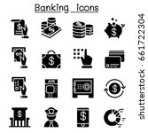 banking   financial icon set... | Shutterstock .eps vector #661722304