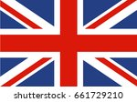 national flag of united kingdom.... | Shutterstock .eps vector #661729210