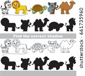wild safari animals with... | Shutterstock .eps vector #661735960