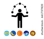 Man Juggling Balls Icon