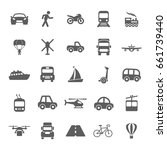 transportation icons | Shutterstock .eps vector #661739440