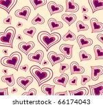 vector background with hearts. | Shutterstock .eps vector #66174043