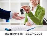 car rent or sale. rental agent... | Shutterstock . vector #661742203