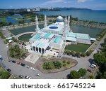 aerial view of kota kinabalu... | Shutterstock . vector #661745224
