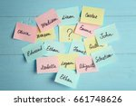 paper stickers with different... | Shutterstock . vector #661748626