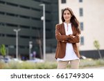 young woman with nice hair...   Shutterstock . vector #661749304