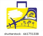 time to travel. logotype.... | Shutterstock .eps vector #661751338