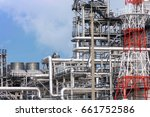 oil refinery factory ... | Shutterstock . vector #661752586