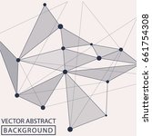 geometric background. internet... | Shutterstock .eps vector #661754308