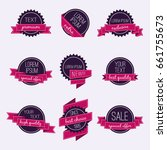 set of vector badges and labels.... | Shutterstock .eps vector #661755673