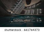empty dark abstract concrete... | Shutterstock . vector #661764373