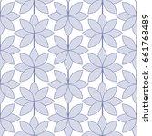 lotus flower seamless pattern.... | Shutterstock .eps vector #661768489