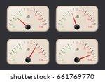 decibel meters on dark... | Shutterstock . vector #661769770
