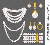 traditional golden jewellery... | Shutterstock .eps vector #661776940
