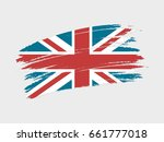 flag of united kingdom grunge... | Shutterstock .eps vector #661777018