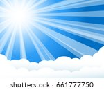 Sunshine Background. White Ray...