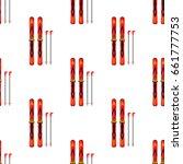 ski and sticks vector... | Shutterstock .eps vector #661777753