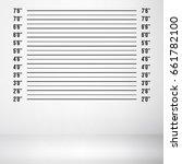 police wall lineup metrical... | Shutterstock . vector #661782100