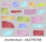 multiform pieces of torn blank... | Shutterstock .eps vector #661790788