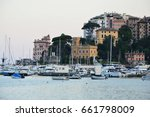rapallo  italy   june 12  2017  ... | Shutterstock . vector #661798009