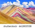vinicunca  cusco region  peru.... | Shutterstock . vector #661803538
