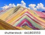 vinicunca  cusco region  peru.... | Shutterstock . vector #661803553