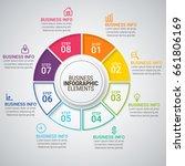 modern infographic timeline...   Shutterstock .eps vector #661806169