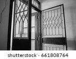 steel door | Shutterstock . vector #661808764