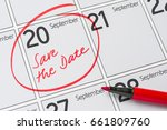 save the date written on a... | Shutterstock . vector #661809760