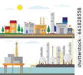 gas energy with offshore ... | Shutterstock .eps vector #661828558