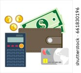 calculation concept.... | Shutterstock . vector #661830196