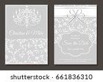 invitation card for wedding or... | Shutterstock .eps vector #661836310