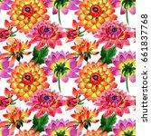 wildflower dahlia flower...   Shutterstock . vector #661837768