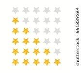 rating stars icon set.gold star ... | Shutterstock . vector #661839364