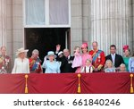 queen elizabeth   royal family  ...   Shutterstock . vector #661840246