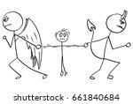 cartoon vector of angel and... | Shutterstock .eps vector #661840684