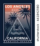 california  los angeles vector... | Shutterstock .eps vector #661842580