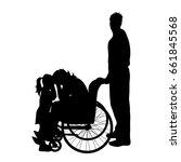 vector silhouette of family...   Shutterstock .eps vector #661845568