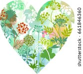 abstract floral heart. | Shutterstock .eps vector #661846360