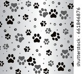 dog paw print and star seamless ... | Shutterstock .eps vector #661846876
