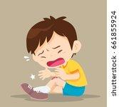 boy having bruises on his leg... | Shutterstock .eps vector #661855924