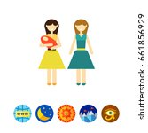 non traditional family with baby | Shutterstock .eps vector #661856929