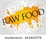 raw food word cloud collage ... | Shutterstock . vector #661865278