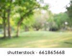 abstract blur city park bokeh... | Shutterstock . vector #661865668
