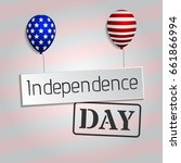 4th of july background. classic ... | Shutterstock .eps vector #661866994