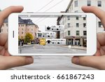 augmented reality in marketing. ... | Shutterstock . vector #661867243